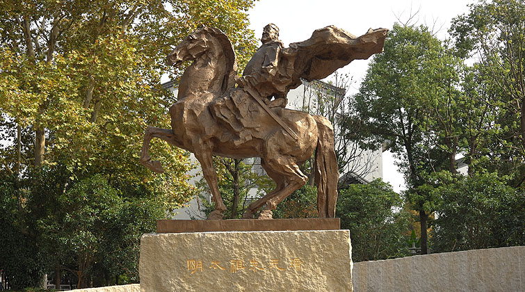 朱元璋铜像