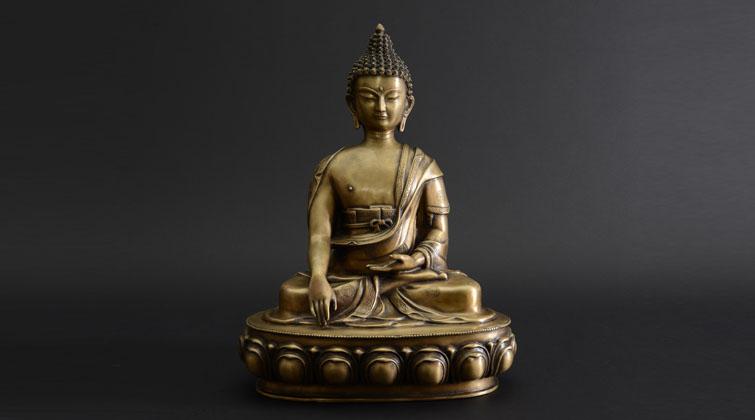 佛祖释迦牟尼铜像